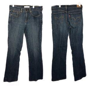 Levi's 515 sz 4m med wash embellished blue jeans
